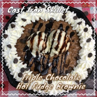 Cast Iron Skillet Hot Fudge Brownie Recipe
