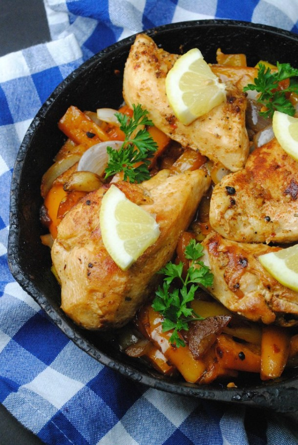 This easy one skillet Lemon Chicken Breasts recipe is a simple way to make the most delicious and juicy chicken meal using only a cast iron skillet.