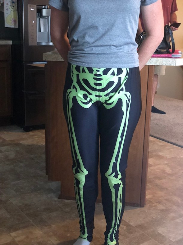 Some people like to keep it simple for Halloween and the Neon Skeleton Leggings - Mr Bonejangles is perfect to do just that.