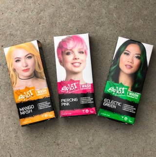 Change your style for a day with Splat Temporary Hair Color. It's perfect for Halloween or really anytime you are wanting to change up your looks.
