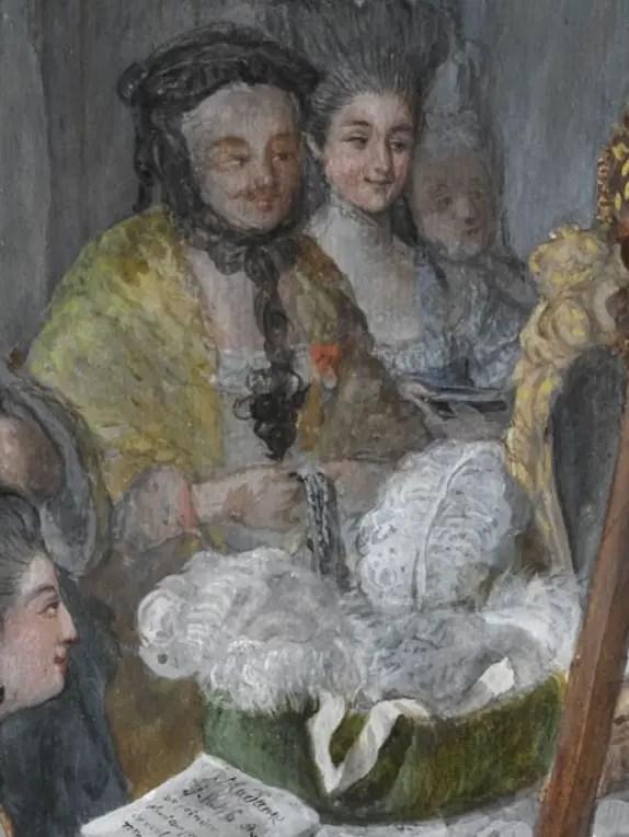 Marie-Antoinette à la harpe, par Dagoty | Plume d'histoire