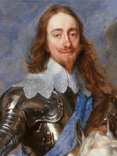 Détail d'un portrait équestre de Charles Ier par Anthony Van Dyck