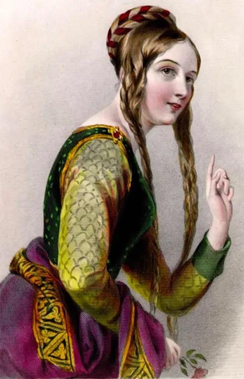 Illustration représentant Aliénor d'Aquitaine