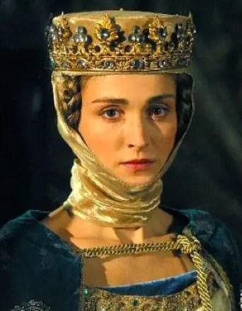 """Julie Gayet dans le rôle d'Isabelle de France - Série """"les Rois Maudits"""" version 2005"""