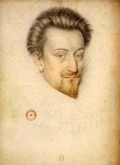 Dessin d'Anne d'Arques, duc de Joyeuse - école française (BNF)