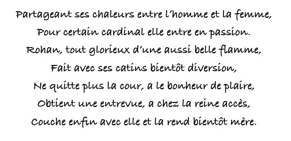 Fureurs utérines de Marie-Antoinette