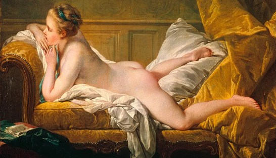 La jeune fille allongée, de François Boucher - 1751