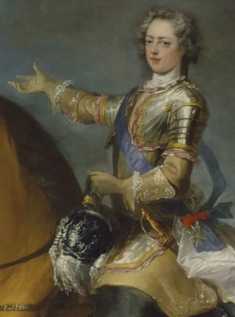 Louis XV peint par Jean-Baptiste Van Loo en 1723 - Musée du château de Versailles