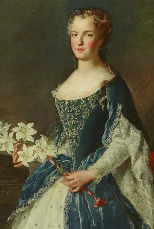 Marie Leszczynska par Pierre Gobert en 1726 par Pierre Gobert - Musée du château de Versailles