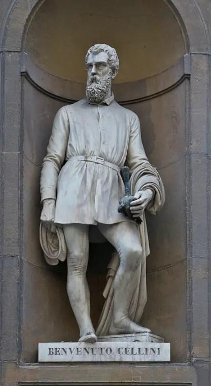 """Statue de Cellini, """"Piazzale degli Uffizi"""", Florence"""