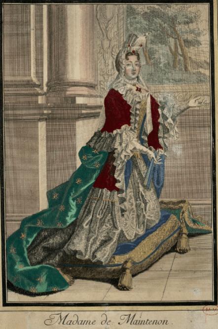 Estampe de Madame de Maintenon