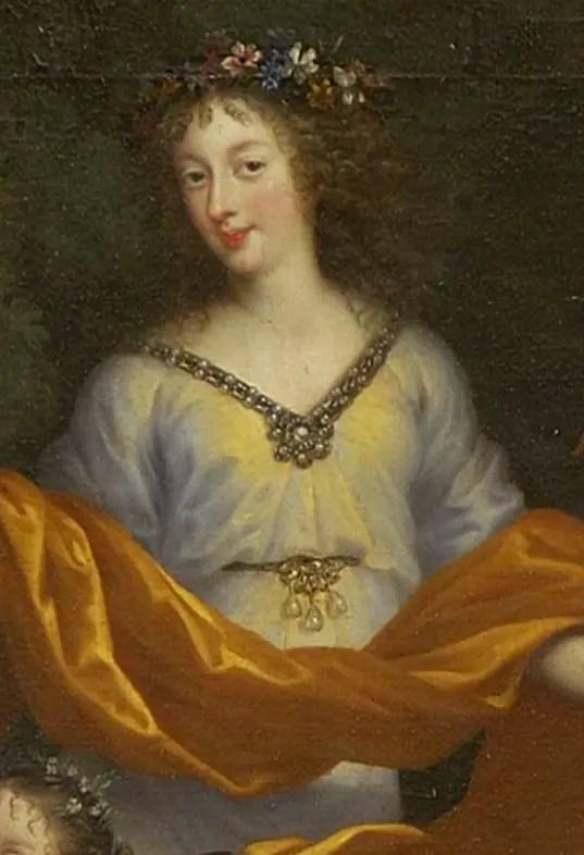 Henriette d'Angleterre dans la fresque représentant les membres de la famille de Louis XIV sous les traits des dieux de l'Olympe