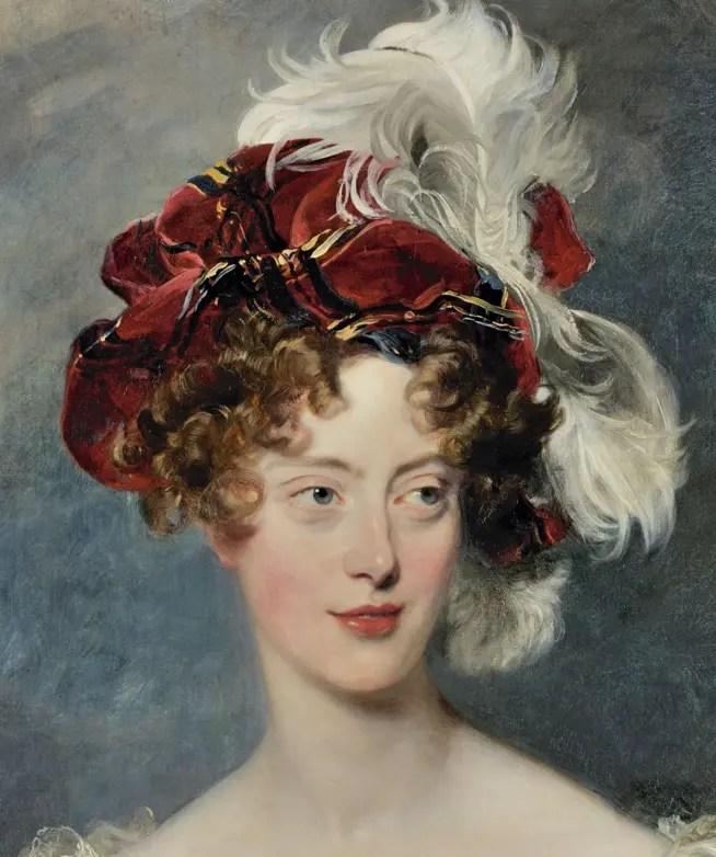 La duchesse de Berry en 1825, par Thomas Lawrence (collections du château de Versailles)