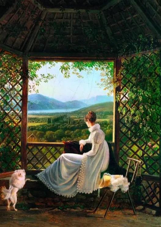 La Reine Hortense par Antoine Ducleaux à Aix-en-Savoie (Aix-les-Bains), en 1813