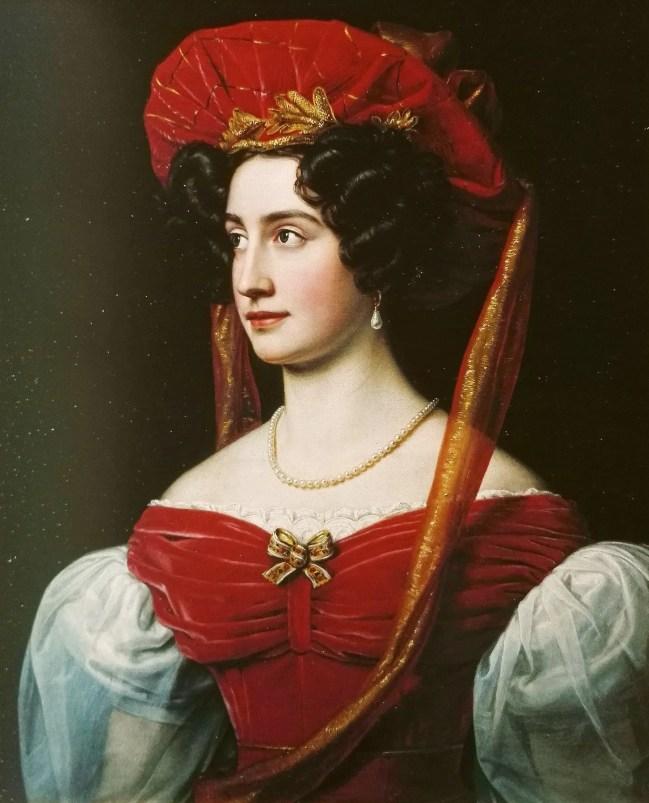 Isabella, comtesse de Tauffkirchen - Portrait par Stieler en 1828 pour la Galerie des Beautés