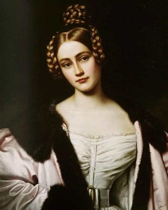 Caroline de Bavière, comtesse de Holnstein - Portrait par Stieler en 1834 pour la Galerie des Beautés
