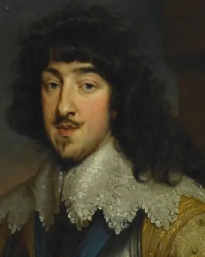Détail d'un portrait de Gaston d'Orléans, frère de Louis XIII, par Anthony van Dyck (1632-1634, Musée Condé, Chantilly)