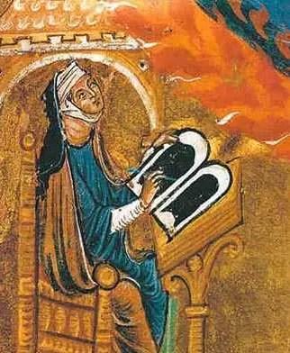Enluminure d'Hildegarde de Bingen