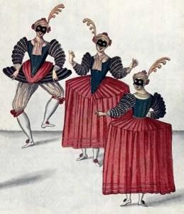"""Entrée des """"Esperlucattes"""" dans le Ballet du Grand Bal de la Douairière de Billebahaut, 1626"""