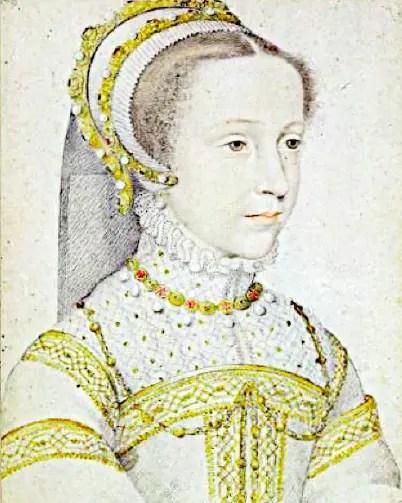 La jeune Mary Stuart dessinée par François Clouet
