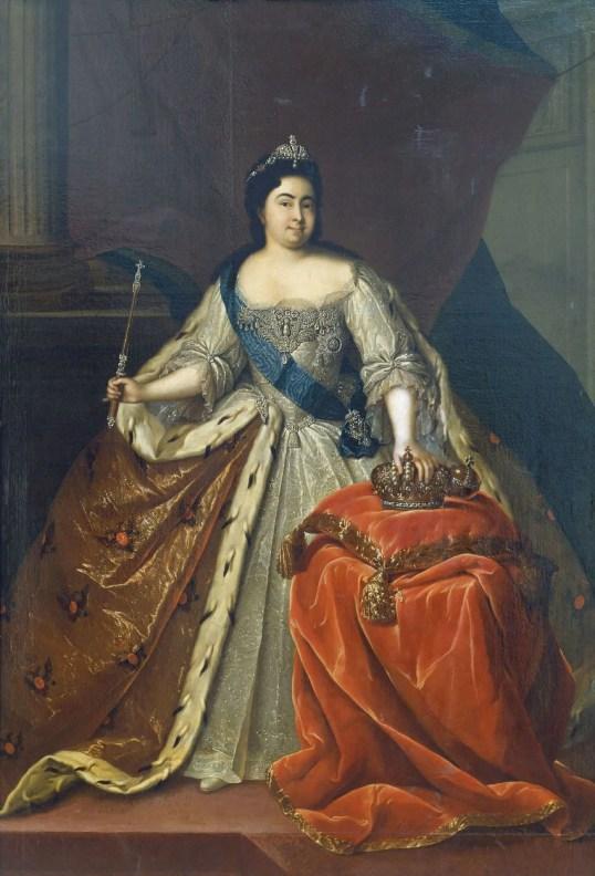 Portrait de l'Impératrice Catherine Iere de Russie, par Heinrich Buchholz vers 1725, conservé au Musée de l'Hermitage. Seule Catherine parvient à dompter Pierre le Grand...