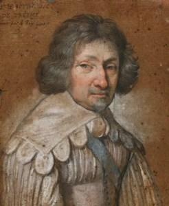 """Portrait de René Potier, duc de Trèsme """"par le Roy Louis"""" - Pastel, Musée du Louvre"""