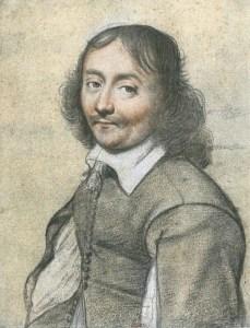 Portrait d'homme au crayon, par Louis XIII - Département des Estampes de la Bibliothèque Nationale de France