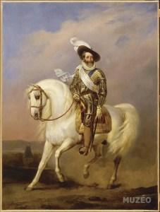 Portrait équestre d'Henri IV par Jean-Baptiste Mauzaisse, collection château de Versailles