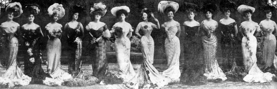 Anna, au centre, et les Anna Held Girls, en 1903