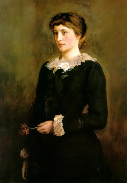 Lillie Langtry en robe de deuil par Millais