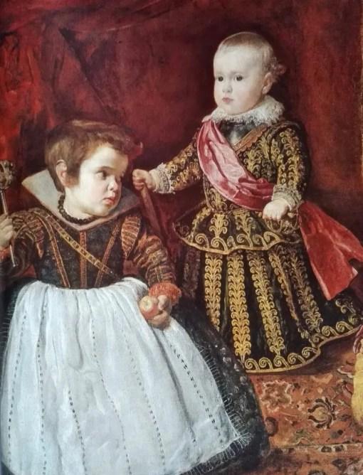 Portrait de l'Infant Baltasar Carlos avec le nain Francisco Lezcano, en 1631 par Velazquez (Boson, Museum of Fine Arts)
