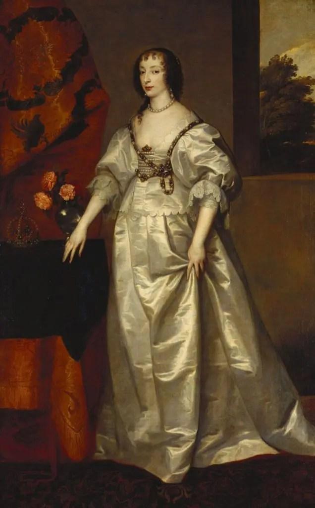 Henriette de France, la mère d'Henriette-Anna, par l'atelier de Van Dyck_