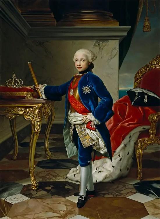 Ferdinand à l'âge de 9 ans, peint par Anton Raphael Mengs en 1760