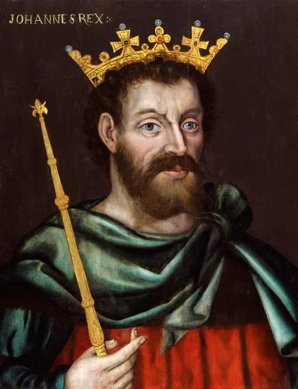 Huile sur toile de Jean sans Terre peinte entre 1590 et 1610 (National Portrait Gallery)