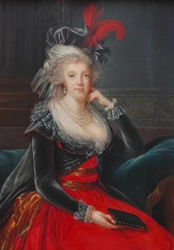 Marie-Caroline, Reine de Naples, peinte par Elisabeth Vigée Lebrun au XVIIIème siècle (Musée Condé, Chantilly, droits réservés)
