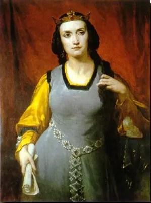 L'actrice Marie Dorval dans le rôle d'Agnès de Méranie, par Hippolyte Lazerges