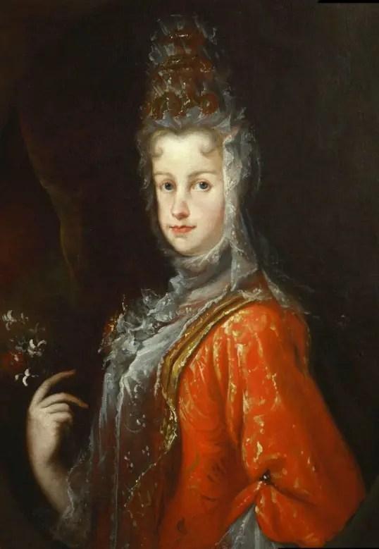 Marie-Louise par Melendez, un an avant sa mort : une écharpe de dentelle cache ses ganglions.