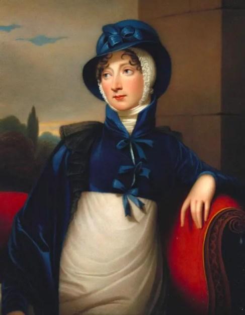 La princesse Amélia par Henry Bone d'après Robertson (portrait terminé en 1811)
