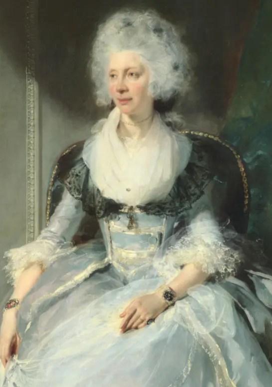 La Reine Charlotte par Thomas Lawrence, en 1789 (National Gallery)