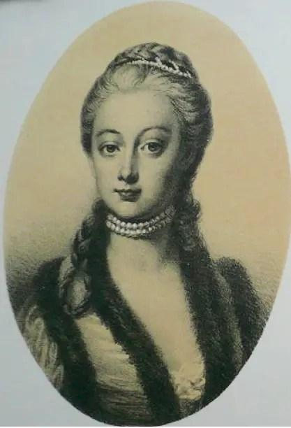 Éléonore de Liechtenstein, portrait anonyme présentée dans sa biographie par Adam Wolf (1875)