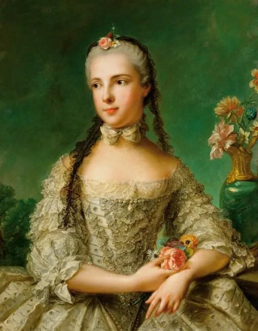 Isabelle de Parme, premier (et avant dernier !) amour de Joseph II. Peinte par Jean-Marc Nattier en 1758 (Kunsthistorisches Museum, Vienne)