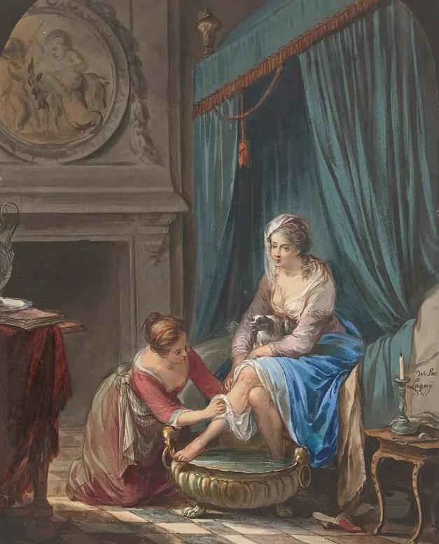 Jeune femme à sa toilette (Willem Joseph Laquy, 1771)