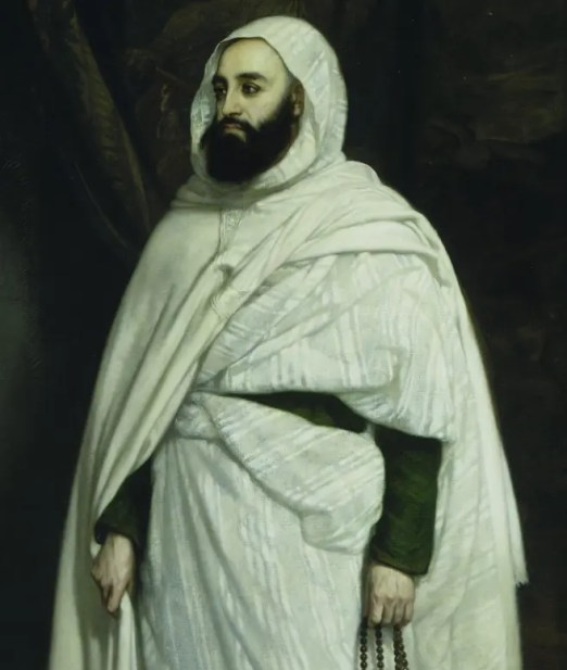 Abd El-Kader par Ange Tissier, en 1852 lors de sa captivité au château d'Amboise (réalisé en 1853 et conservé au château de Versailles)