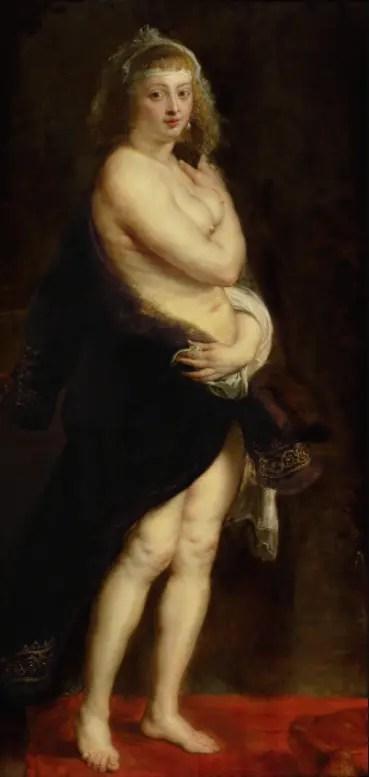 La Petite Pelisse, par Rubens. C'est Hélène Fourment qui est représentée. (1636/1638 -  Kunsthistorisches Museum, Vienne)