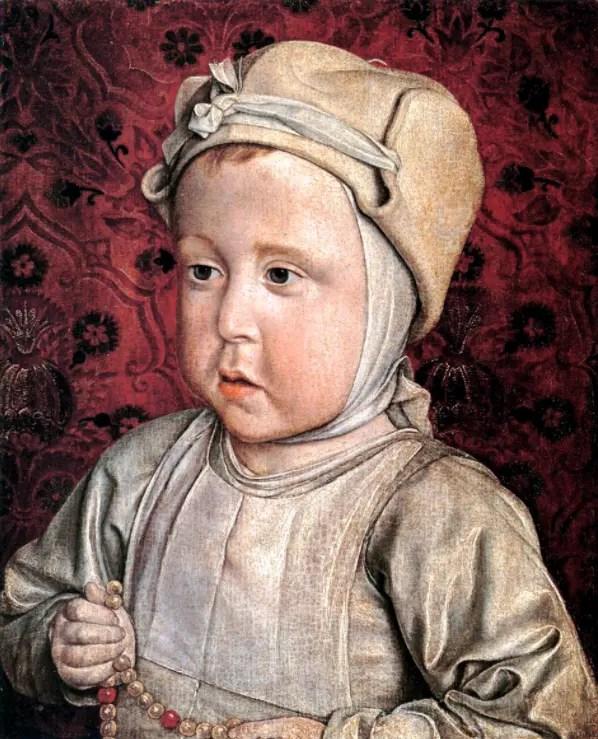 Charles-Orland peint par Jean Hey à l'âge de 2 ans (Musée du Louvre)