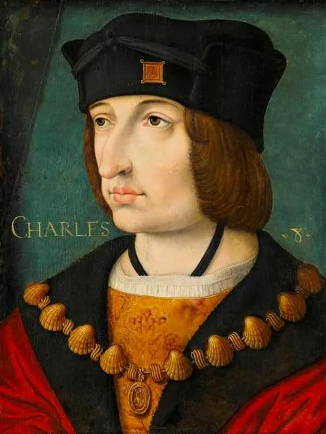 Charles VIII d'après Jean Pérreal (Musée Condé)
