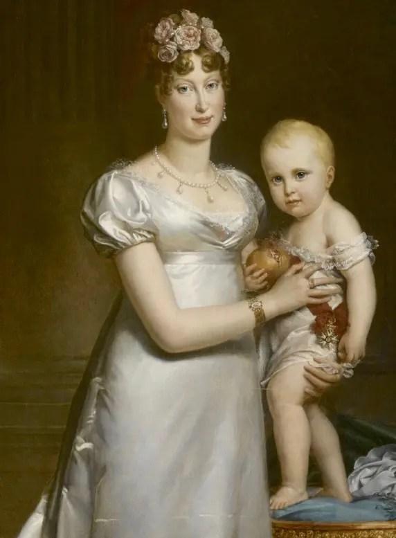 L'Impératrice Marie-Louise et son fils le Roi de Rome, peints en 1812 par François Gérard - Musée du château de Versailles et de Trianon