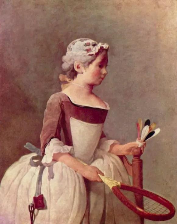 Fillette au volant, 1737, Jean-Baptiste Chardin