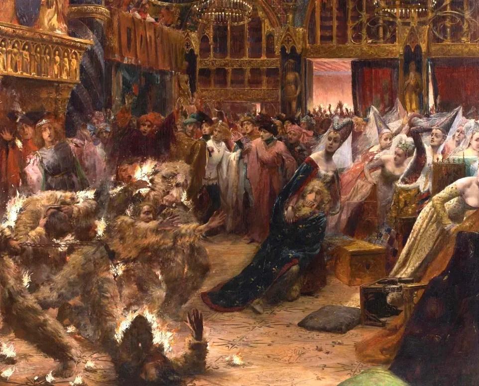 Le Bal des ardents par Georges Rochegrosse (1889)