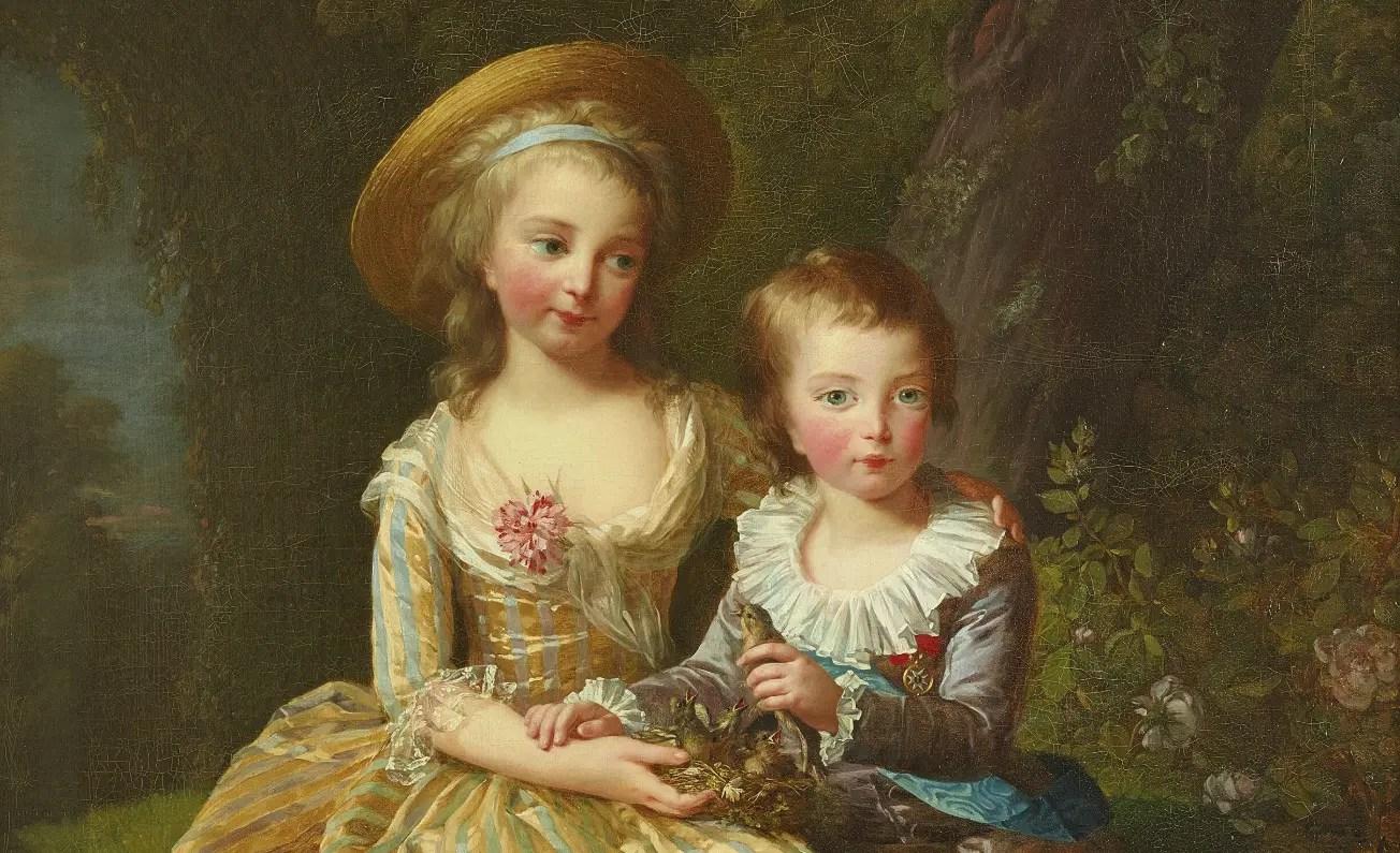 Madame Royale et le Chou d'amour en 1784 par Elisabeth Vigée-Lebrun (détail)